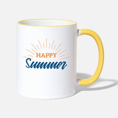 Summer Summer Happy Summer Festival Music Gift - Two-Tone Mug