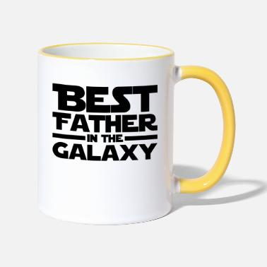 Father Best Father In The Galaxy - Two-Tone Mug