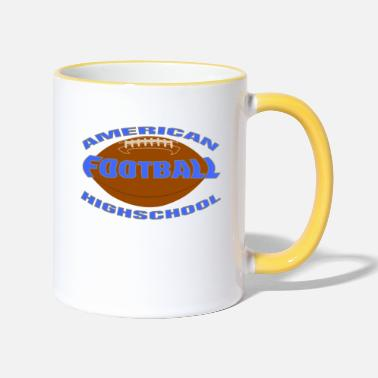 Highschool highschool football - Tasse zweifarbig