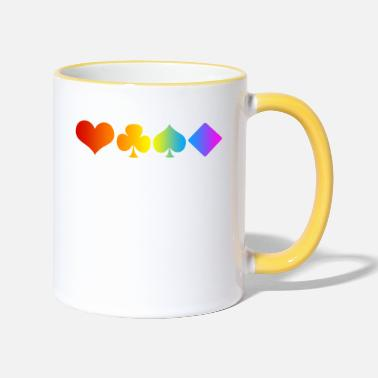 Cards Poker Card Pride - Mug bicolore