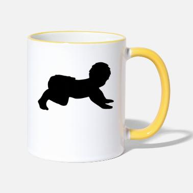 Crawl Crawling Baby - Two-Tone Mug