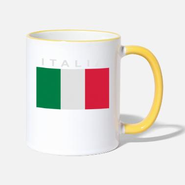 Bandiera italia patch bandiera - Two-Tone Mug