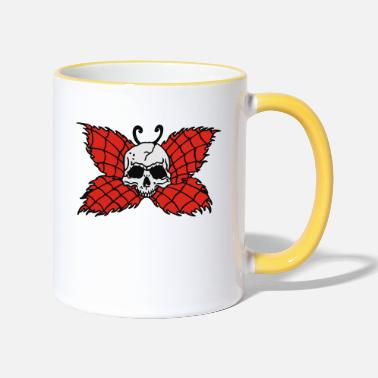 Gott Hölle Poison Butterfly Skull Tattoo - Two-Tone Mug