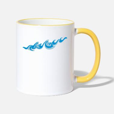 Sea Underwear Waves 2C - Two-Tone Mug