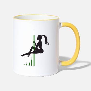 Bitcoin Candle Dance - Two-Tone Mug