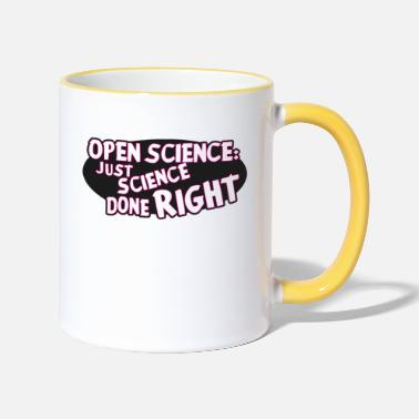 Open Open Science: just science done right - Two-Tone Mug