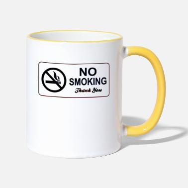No Smoking no smoking - Two-Tone Mug