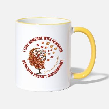 Mixed Dementia Dementia Doesn't Discriminate - Two-Tone Mug