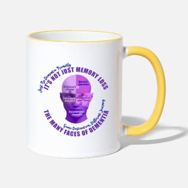Mixed Dementia The Many Faces of Dementia - Two-Tone Mug