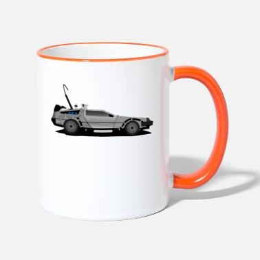 Future Delorean Back to the future - Two-Tone Mug