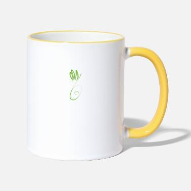 Cleaneating Plant print - Two-Tone Mug