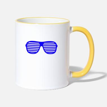 Shade blue shades - Two-Tone Mug