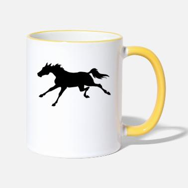 Gallop Galloping Horse - Two-Tone Mug