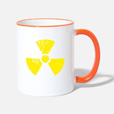 Yellow Radioactivity Symbol Yellow radioactive, radioactivity symbol - Two-Tone Mug