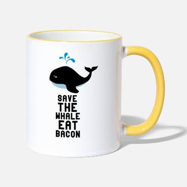 Save The Whales Save The Whale Eat Bacon - Two-Tone Mug