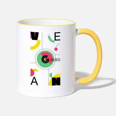 Abstract Vegan - Two-Tone Mug