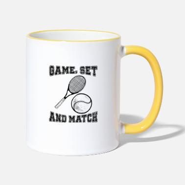 Game Set Match Tennis Game Set Match - Tasse zweifarbig