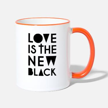 New Love is the new Black - Tasse zweifarbig