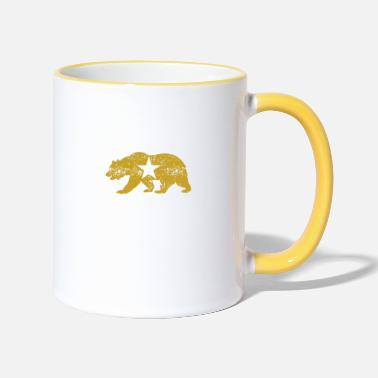 The Golden State California Golden State Bear - Two-Tone Mug