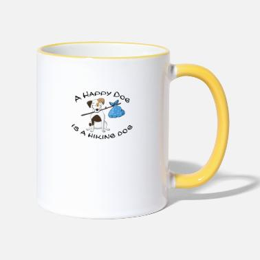 Dogowner Hiking Dogowner Dog Backpacker Nature Pet Love - Two-Tone Mug