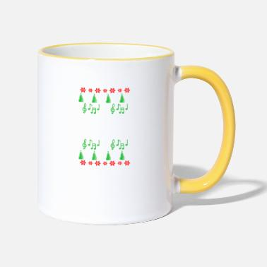 Instrument Baritone Ugly Christmas musical instrument - Two-Tone Mug