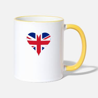 Gb GB Heart - Two-Tone Mug