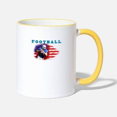Los Angeles Litière de football - Mug bicolore