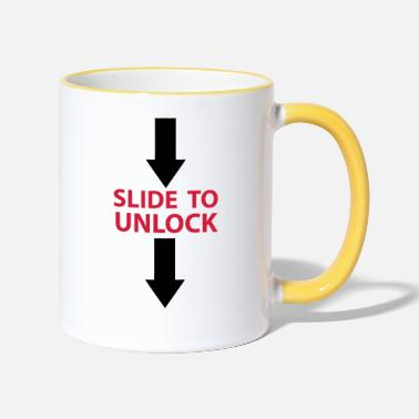Open Underwear Slide to unlock (vertically from top to bottom) 2 - Two-Tone Mug
