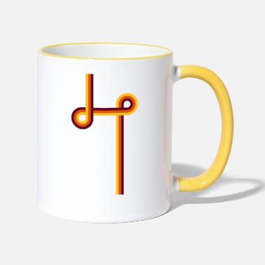 Stiffen Retro stripe with intersecting circles - Two-Tone Mug