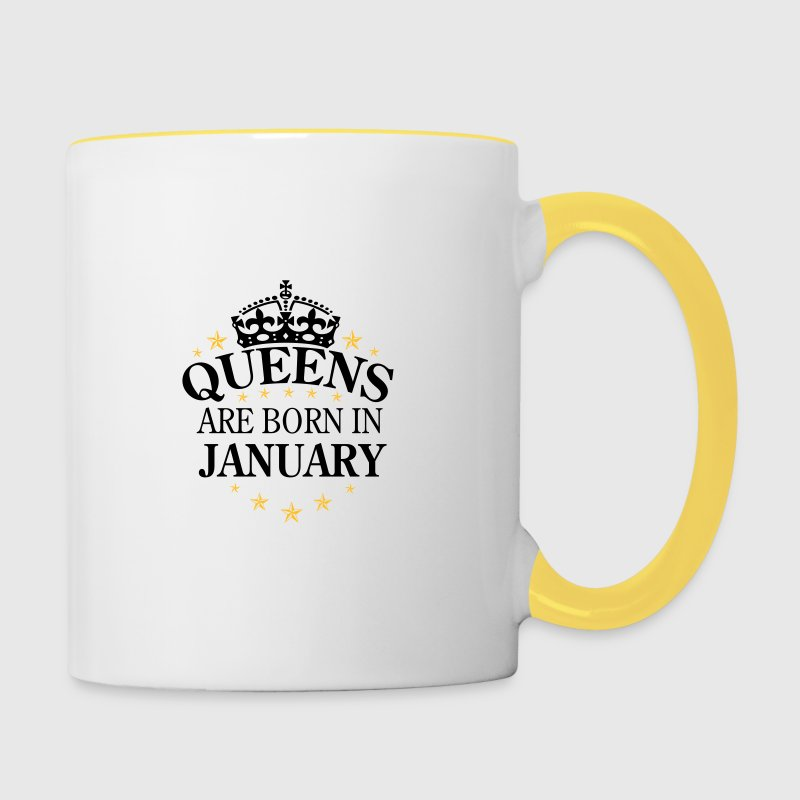 Queens are born January - Tasse zweifarbig