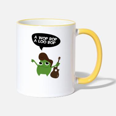 Fathers Day Elvis Rock Monster - Two-Tone Mug
