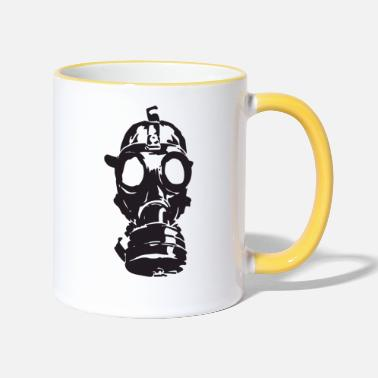 Gas Gas Mask Toxic Gift Toxic Idea War Weapons - Two-Tone Mug