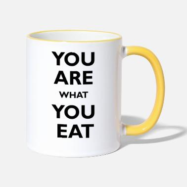 You are what you eat - Taza de dos colores