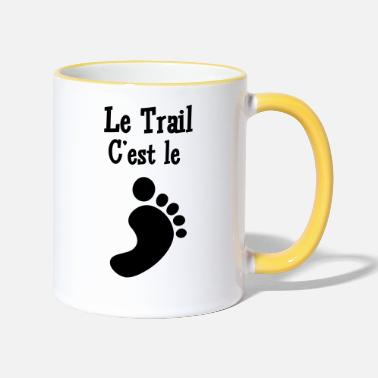 Pied Course à Pied / Running / Jogging / Coureur - Mug bicolore