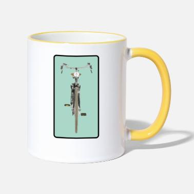 Bike from the front - Two-Tone Mug