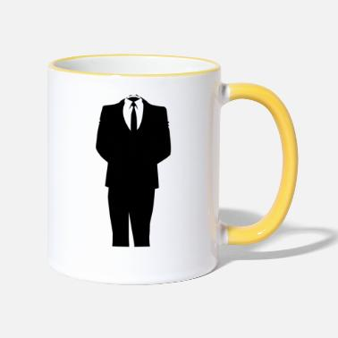 Costume Homme Costume Homme d'affaires - Mug bicolore