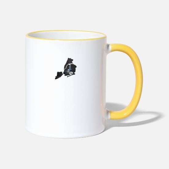 New York Mugs et récipients - NYC - Mug bicolore blanc/jaune