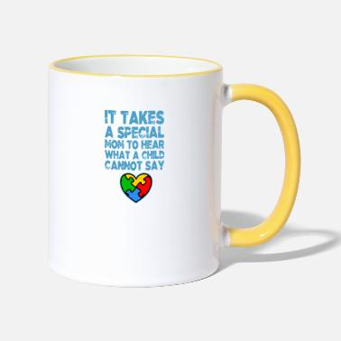 Mom AUTISM SPECIAL MOM Autism Awareness Gift - Two-Tone Mug