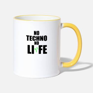 Technobilly No techno no life - Two-Tone Mug