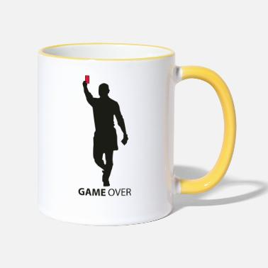 Red game over flex - Two-Tone Mug