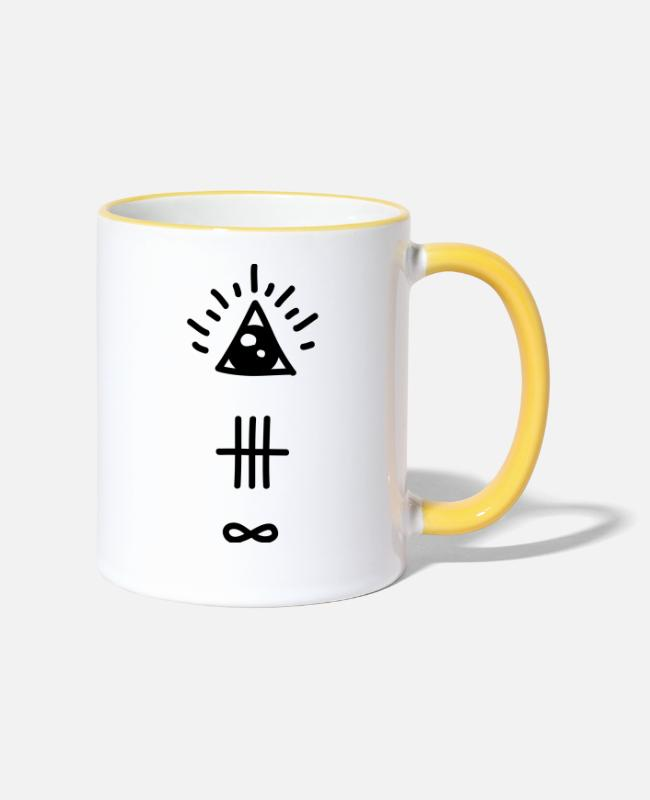 Eye Mugs & Drinkware - Hipster - Two-Tone Mug white/yellow