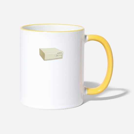 Calculator Mugs & Drinkware - computer - Two-Tone Mug white/yellow