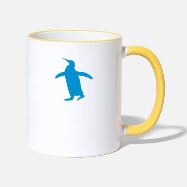 Waddle waddle blue penguin - Two-Tone Mug