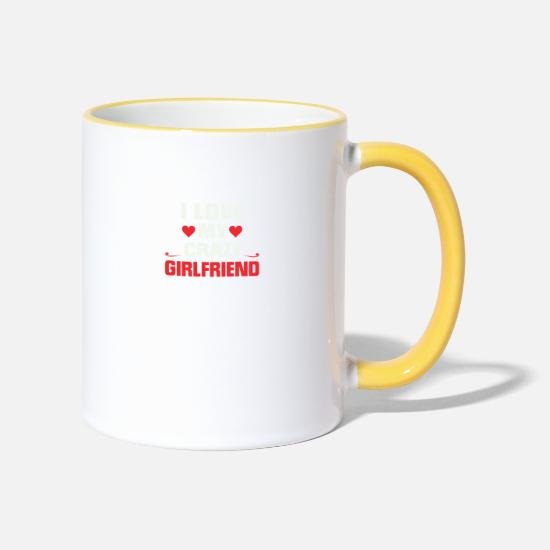 Partner Mugs & Drinkware - partner shirt - Two-Tone Mug white/yellow