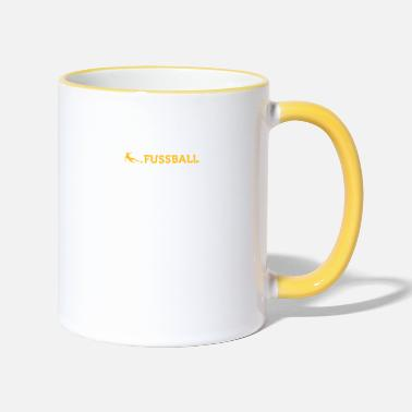 Defence Football Quotes: Line Of Defence - Two-Tone Mug