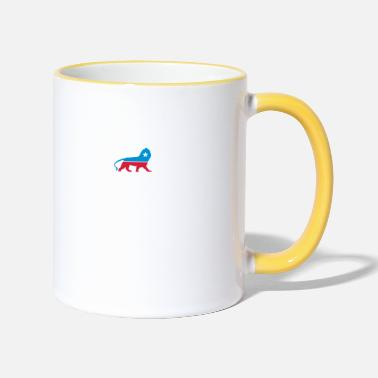 Political Party Political Party Animals: Lion - Two-Tone Mug