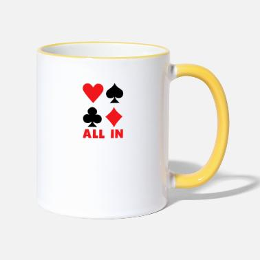 Card All In Card Playing Card Card Game Poker Gift - Two-Tone Mug