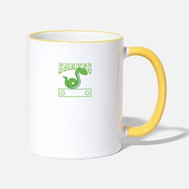Grab Snakes Makes Me Happy - Snake Lover - Tasse zweifarbig