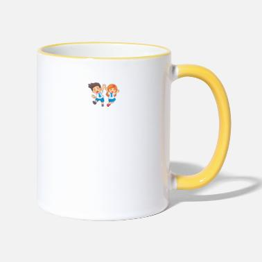Style Play Inside Kids Social Distancing Stay At Home Fu - Two-Tone Mug