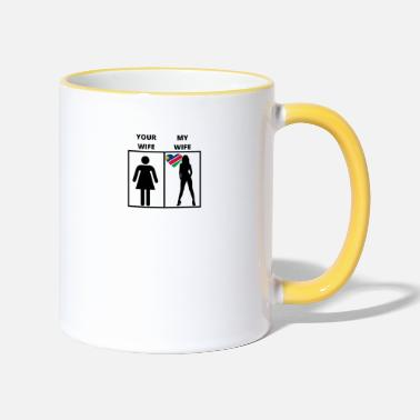 Namibia Namibia gift my your wife - Two-Tone Mug
